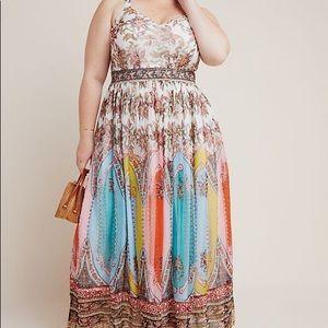 NWT Anthropologie Virginia Maxi Dress 24W Plus
